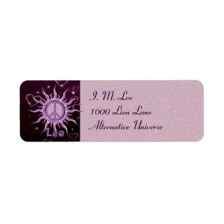 Peace Sun Leo Return Address Labels