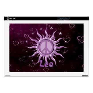 "Peace Sun Leo Skins For 17"" Laptops"
