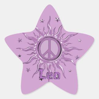Peace Sun Leo Sticker