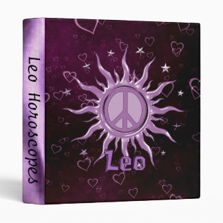 Peace Sun Leo Vinyl Binders