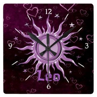 Peace Sun Leo Wall Clock