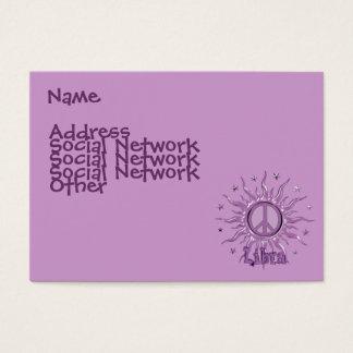 Peace Sun Libra Business Card