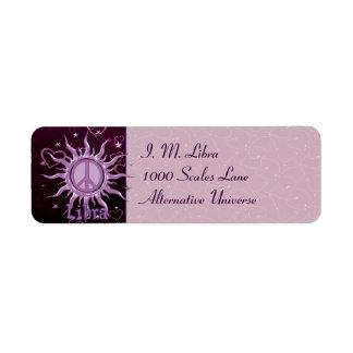 Peace Sun Libra Label