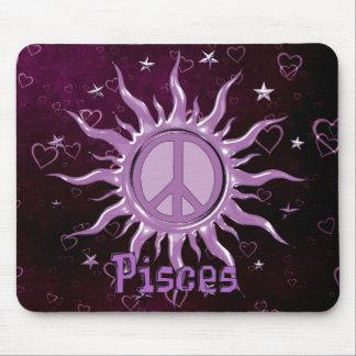 Peace Sun Pisces Mouse Pad