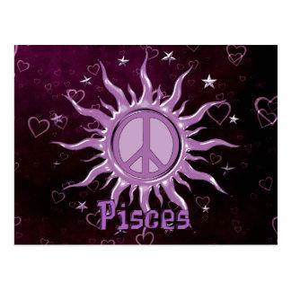 Peace Sun Pisces Post Card