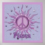 Peace Sun Pisces Poster