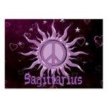 Peace Sun Sagittarius Business Card Templates