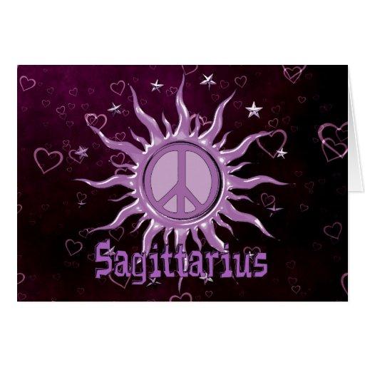 Peace Sun Sagittarius Greeting Cards
