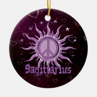 Peace Sun Sagittarius Ceramic Ornament
