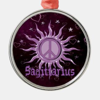 Peace Sun Sagittarius Metal Ornament