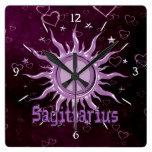 Peace Sun Sagittarius Wall Clocks