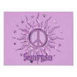 Peace Sun Scorpio 4.25x5.5 Paper Invitation Card