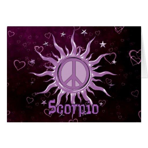 Peace Sun Scorpio Cards