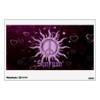 Peace Sun Scorpio Wall Graphic
