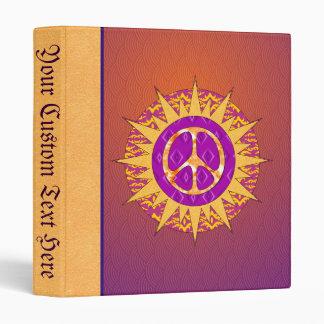 Peace Sun Spiral Binder