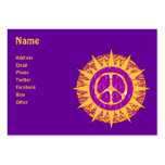Peace Sun Spiral Large Business Cards (Pack Of 100)