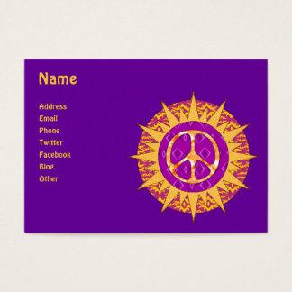 Peace Sun Spiral Business Card