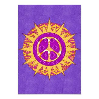 Peace Sun Spiral Card