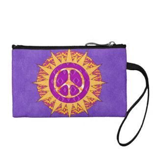 Peace Sun Spiral Change Purse