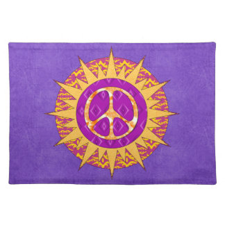 Peace Sun Spiral Cloth Placemat