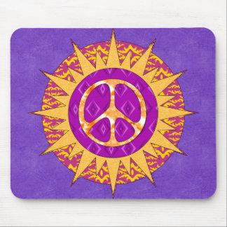 Peace Sun Spiral Mouse Pad