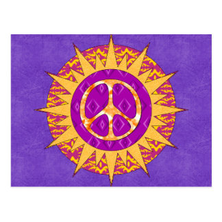 Peace Sun Spiral Postcard