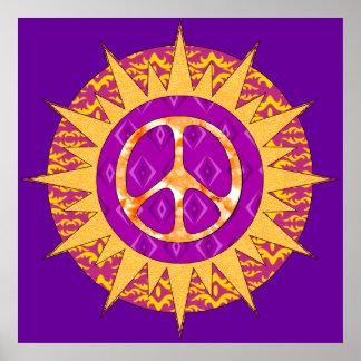 Peace Sun Spiral Poster