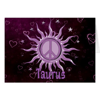 Peace Sun Taurus Card