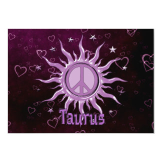Peace Sun Taurus Card