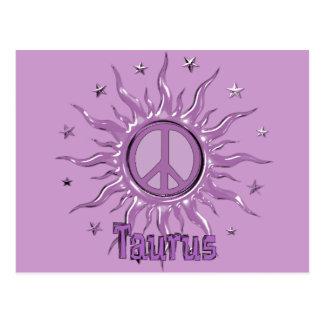 Peace Sun Taurus Postcard