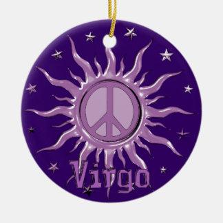 Peace Sun Virgo Ceramic Ornament