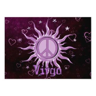 "Peace Sun Virgo 5"" X 7"" Invitation Card"