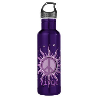 Peace Sun Virgo Stainless Steel Water Bottle