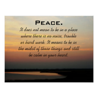 Peace Sunset Poster