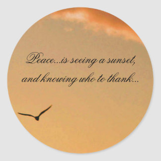 Peace Sunset Sticker