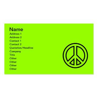 peace-symbol-2 (1) el SÍMBOLO de PAZ CAUSA EL ICON Plantilla De Tarjeta De Negocio