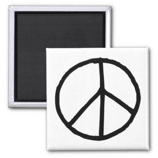 Peace Symbol 2 Inch Square Magnet