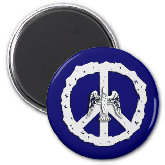 Peace Symbol and Dove Magnet