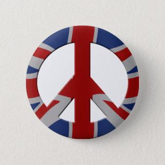 Peace symbol and Union Jack Pinback Button