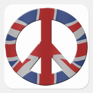 Peace symbol and Union Jack Square Sticker