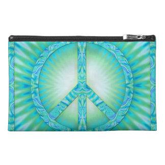 Peace Symbol Blue-Greens Travel Accessories Bag