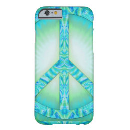 Peace Symbol Blue-Greens Barely There iPhone 6 Case