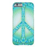 Peace Symbol Blue-Greens iPhone 6 Case