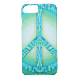 Peace Symbol Blue-Greens iPhone 7 Case