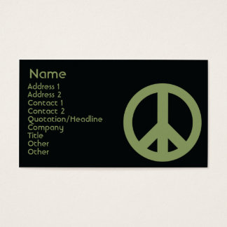 Peace Symbol - Business Business Card