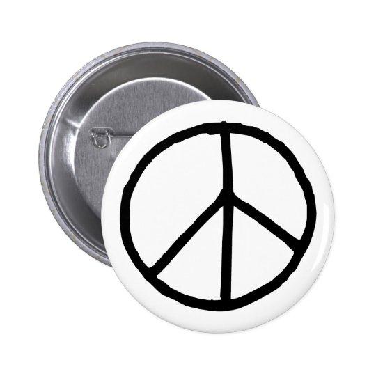 Peace Symbol Button