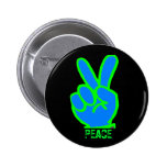 Peace Symbol Buttons