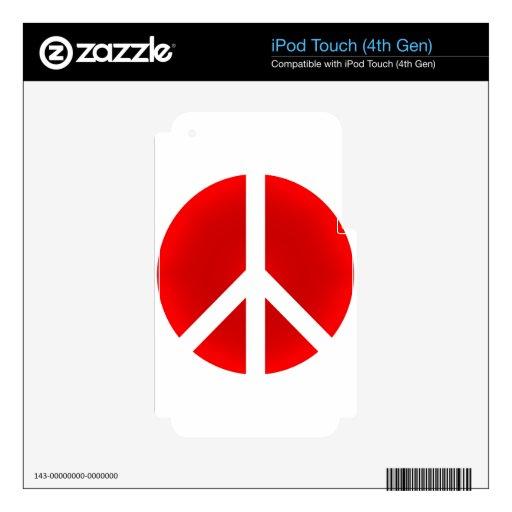 Peace_Symbol Calcomanías Para iPod Touch 4G