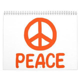 Peace symbol calendar