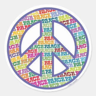Peace Symbol Classic Round Sticker